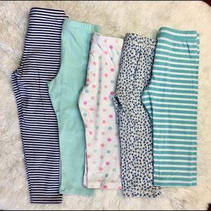 5 pair leggings. Size 4 years. Gently used.